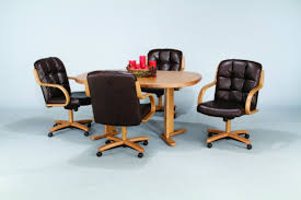 impressive swivel dining chairs with casters chair home furniture