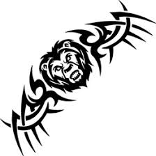 black tribal leo design idea