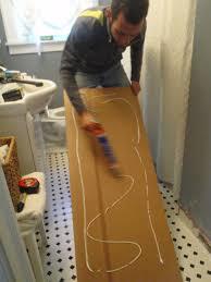Install Beadboard Wainscoting - hammers and high heels bathroom redo installing beadboard