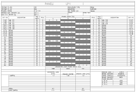autocad mep 2018 help about panel schedules