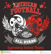 american football vintage vector print for boy stock vector