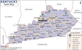 Kentucky national parks images Kentucky state map jpg