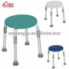 adjustable plastic round stacking shower bath stool bench seat