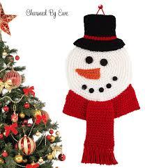 snowman wall hanging allfreecrochet com