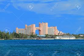 atlantis on paradise island in nassau bahamas stock photo
