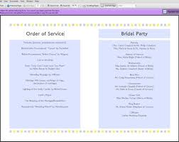 Printable Wedding Programs Free 8 Best Images Of Printable Wedding Programs Simple Diy Wedding
