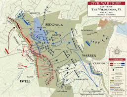 Map Of Confederate States by Battle Of The Wilderness Orange Turnpike May 5 1864 Civil