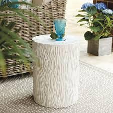 faux bois side table bois garden seat ballard designs