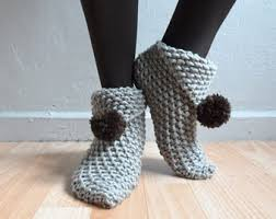 womens slipper boots size 11 s slippers etsy