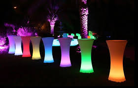 cocktail tables for rent led cocktail table los angeles partyworks inc equipment
