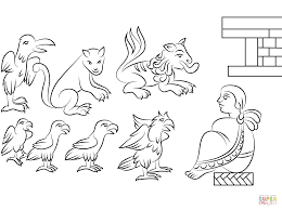 aztec animals coloring page free printable coloring pages