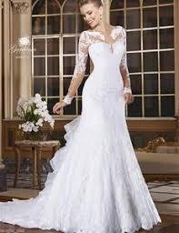 sle wedding dresses white ivory fashion sleeved mermaid wedding dress