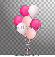 set purple pink silver blue helium stock vector 608260127