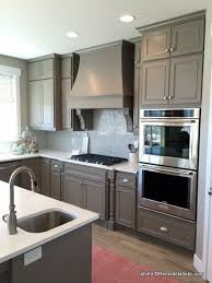 blue kitchen cabinets with granite countertops remodelaholic 40 beautiful kitchens with gray kitchen cabinets
