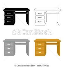 arriere plan bureau animé style illustration bureau symbole isolé arrière plan