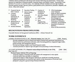 entry level financial analyst resume cover letter finance resume