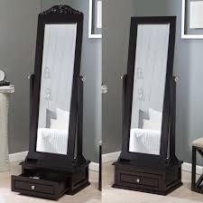 mirrors hayneedle belham living removable decorative top cheval mirror espresso 21 5w x 60h in