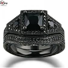 black crystal rings images Black ring sets hot black un color zircon fashion lady finger jpeg