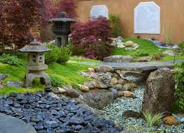 japanese rock garden landscape asian with d path lights
