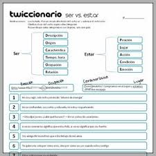 twiccionario ser vs estar 290 spanish pinterest spanish