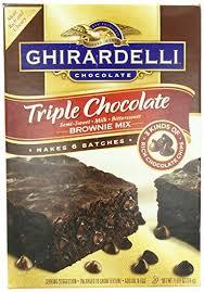 amazon com ghirardelli triple chocolate brownie mix semi sweet