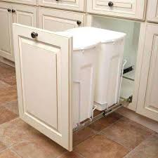 built in trash can cabinet glamorous white pull out trash cans kitchen cabinet organizers the