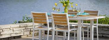 Wood Patio Furniture Sets Catchy Faux Wood Patio Furniture And Deck Rail Bar Houzz Target