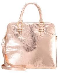 Online Shop K He Belmondo Shopping Bag Champagne Copper Croco Damen Taschen