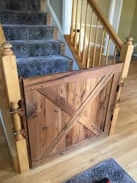 Barn Door Gate by Barn Door Style Solid Oak Baby Gate Or Pet Gate Made With