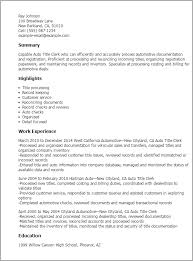 exles of resume title dmv title clerk resume gallery exle resume and template
