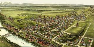 Birds Eye View Map Beautifully Detailed Map Of Royersford Pa From 1893 Knowol