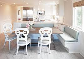 Kitchen L Shaped Dining Table Kitchen Peninsula With L Shaped Dining Bench Transitional