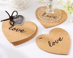 coaster favors heart cork coasters coaster wedding favors by kate aspen