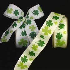 shamrock ribbon wire edge green shamrock ribbon everyday summer ribbon
