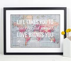 wedding quotes etsy world map print travel poster map quote wanderlust poster