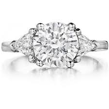 setting diamond rings images Modern three stone diamond engagement ring setting let102 3 jpg