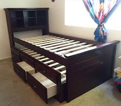 wood bed frame with drawers twin twin trundle bed drawers furniture in san diego ca offerup