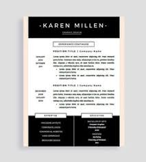 Creative Design Resume Templates Resume Template And Cover Letter For Word And Pages Two Page