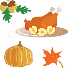 icons for thanksgiving day acorn turkey pumpkin maple leaf