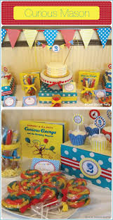 curious george birthday party curious george 2nd birthday party by one stylish party featured on