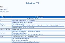 Calendrier Fdration Franaise De Fédération Française De Go Archives Jeu De Go Revue De Presse