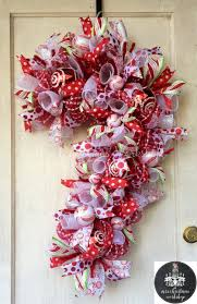 cane christmas wreath deco mesh by mrschristmasworkshop