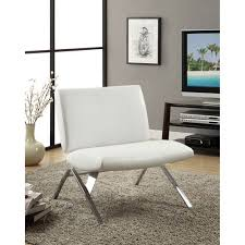 White Leather Accent Chair White Leather Accent Chair Bellacor