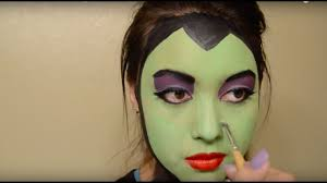 maleficent face paint makeup youtube