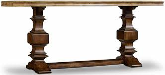 hooker furniture console table hooker furniture archivist console table with two tone finish
