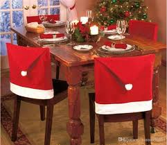chair back covers 2018 new year christmas chair back cover decorations santa clause