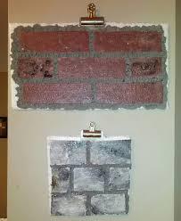 faux brick wall out of styrofoam 4x8 u0027 styrofoam insulation panel