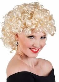 ladies bubbly blonde 50s wig 1950s sandy grease fancy dress