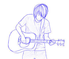 japan guitar man sketch by tanuki bandit on deviantart