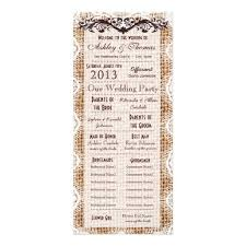 wedding program card stock 51 best wedding programs images on country wedding